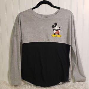 Disney Long Sleeved Mickey Graphic Tshirt